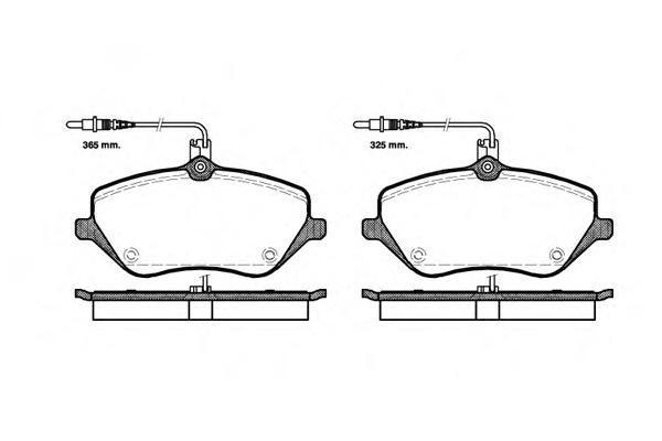 Колодки тормозные дисковые Remsa, комплект. 110104110104