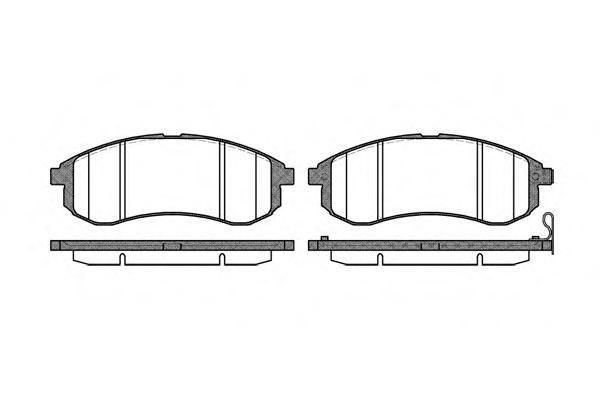Колодки тормозные дисковые Remsa, комплект. 112901112901