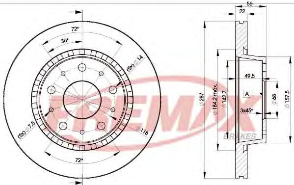 Диск тормозной Fremax, 2 шт. BD-9908BD-9908