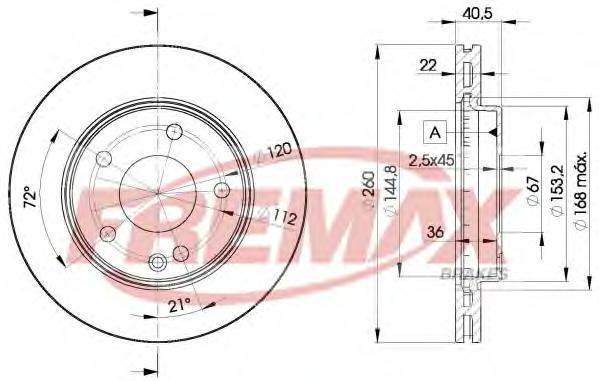 Диск тормозной Fremax, 2 шт. BD-0113BD-0113