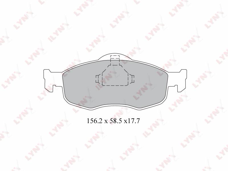 Колодки тормозные дисковые Lynx, передние. BD-3011BD-3011