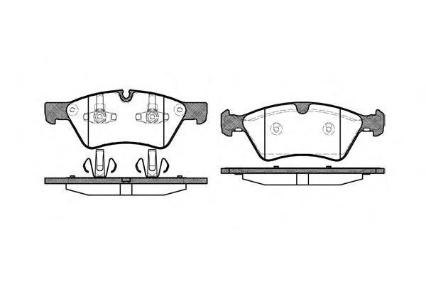 Колодки тормозные дисковые Remsa, комплект. 117900117900