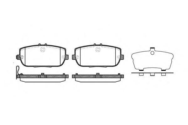 Колодки тормозные дисковые Remsa, комплект. 119001119001