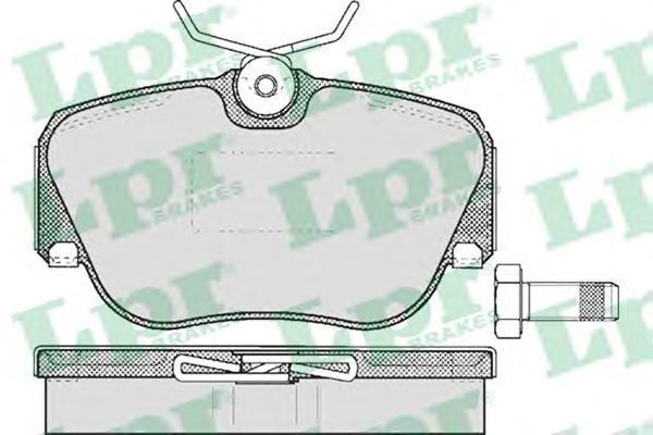 Колодки тормозные дисковые LPR / AP. 05P30205P302
