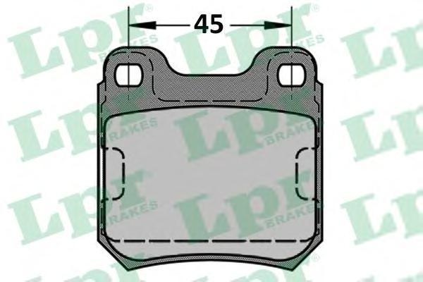 Колодки тормозные дисковые LPR / AP. 05P33405P334