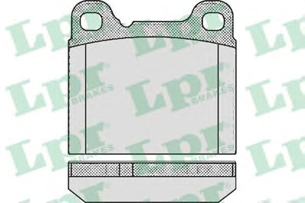 Колодки тормозные дисковые LPR / AP. 05P36205P362