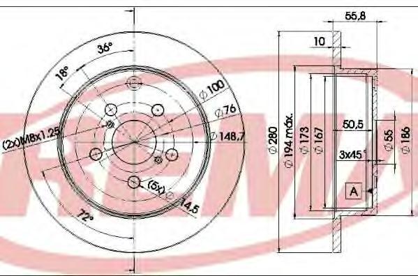 Диск тормозной Fremax, 2 шт. BD-0503BD-0503