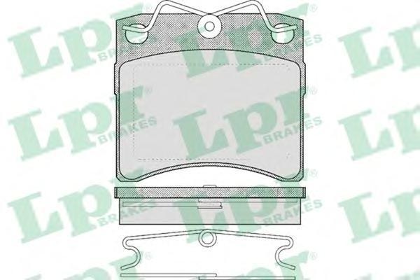 Колодки тормозные дисковые LPR / AP. 05P43705P437