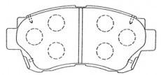 Колодки тормозные дисковые Kashiyama, передние. D2088D2088