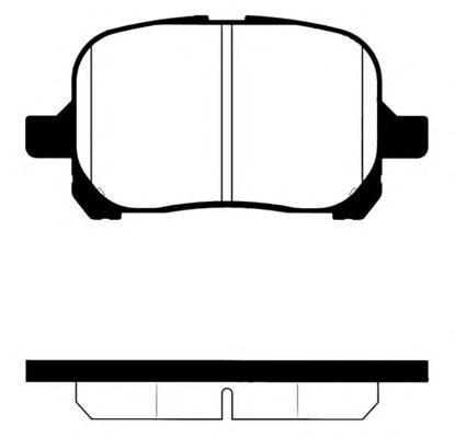 Колодки тормозные дисковые Kashiyama, передние. D2166D2166