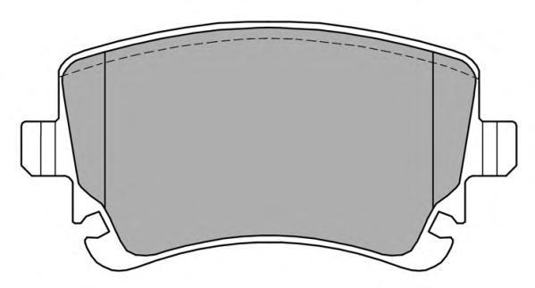 Колодки тормозные дисковые Fremax, комплект. FBP-1368FBP-1368