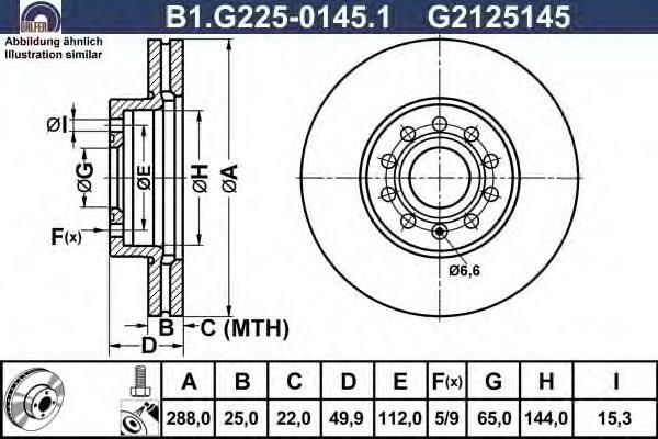 Диск тормозной Galfer, 2 шт. B1.G225-0145.1B1.G225-0145.1