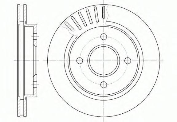 Диск тормозной Remsa, 2 шт. 616010616010