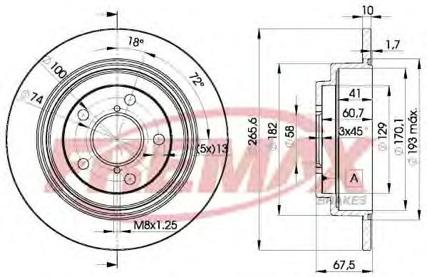 Диск тормозной Fremax, 2 шт. BD-0034BD-0034