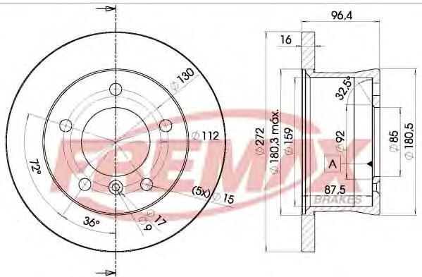Диск тормозной Fremax. BD-0183BD-0183