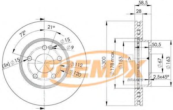 Диск тормозной Fremax, 2 шт. BD-0415BD-0415
