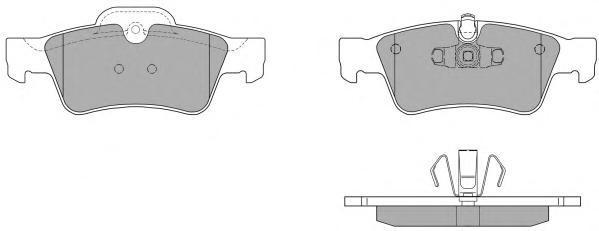 Колодки тормозные дисковые Fremax, комплект. FBP-1523FBP-1523