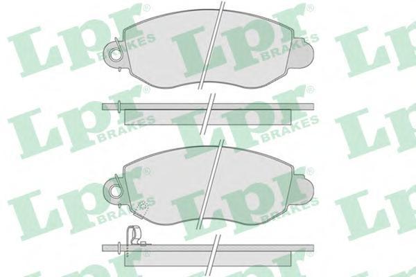 Колодки тормозные дисковые LPR / AP, передние. 05P77505P775