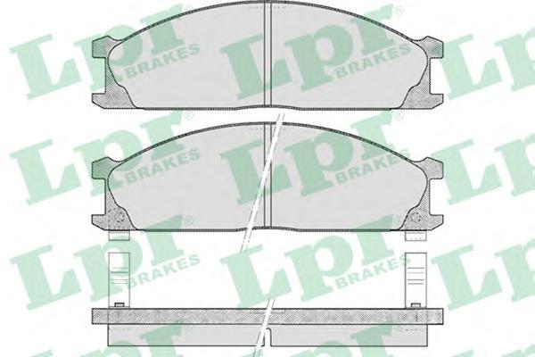 Колодки тормозные дисковые LPR / AP, передние. 05P37805P378