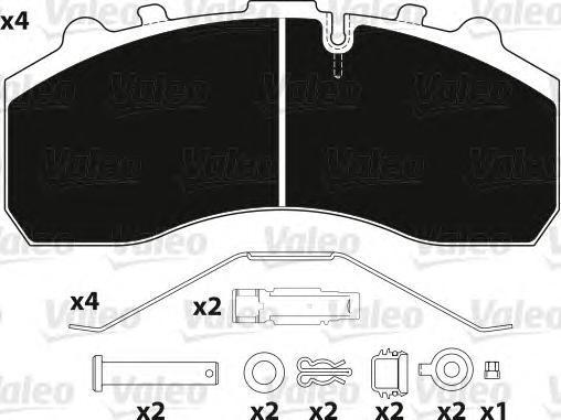 Колодки тормозные дисковые Valeo. 882200882200