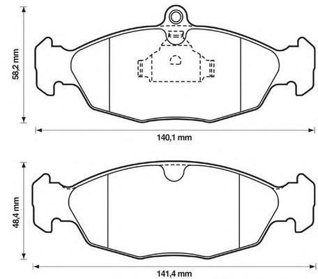 Колодки тормозные дисковые Jurid. 571492J571492J