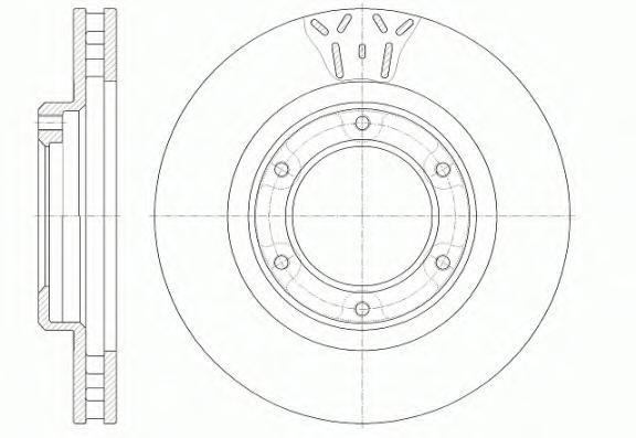 Диск тормозной Remsa. 650710650710