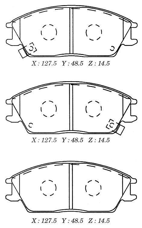 Колодки тормозные дисковые Kashiyama, передние. D11091MD11091M