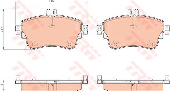 Колодки тормозные дисковые TRW, передние. GDB1933GDB1933