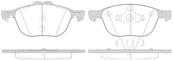 Колодки тормозные дисковые Remsa, передние. 108250108250