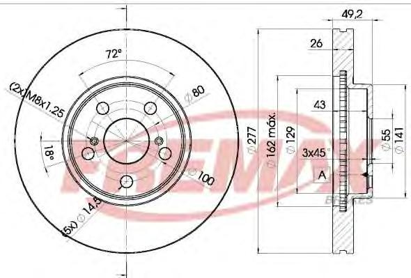 Диск тормозной Fremax, 2 шт. BD-0504BD-0504