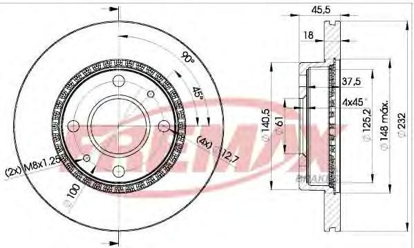 Диск тормозной Fremax, 2 шт. BD-0601BD-0601