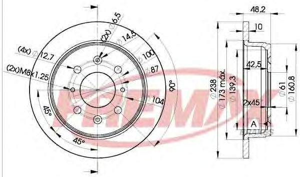 Диск тормозной Fremax, 2 шт. BD-0817BD-0817