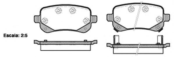 Колодки тормозные дисковые Remsa, комплект. 109502109502
