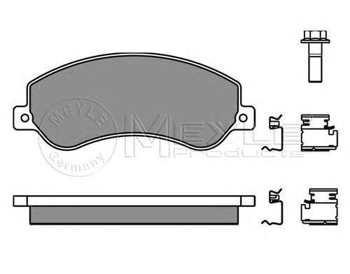 Колодки тормозные дисковые Meyle. 0252448419/W0252448419/W