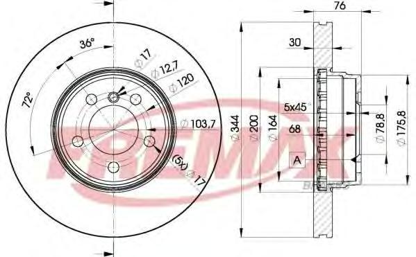 Диск тормозной Fremax, 2 шт. BD-2207BD-2207