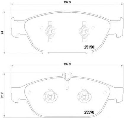 Колодки тормозные дисковые Brembo, передние. P85127P85127