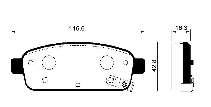 Колодки тормозные дисковые Avantech, с противоскрипной пластиной. AV129AV129