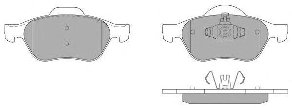 Колодки тормозные дисковые Fremax, комплект. FBP-1251-01FBP-1251-01