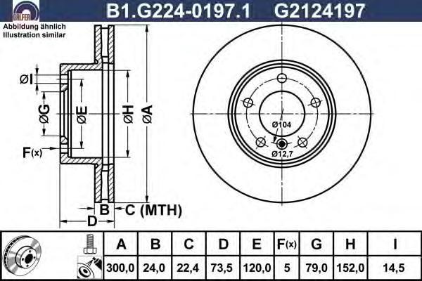 Диск тормозной Galfer. B1.G224-0197.1B1.G224-0197.1