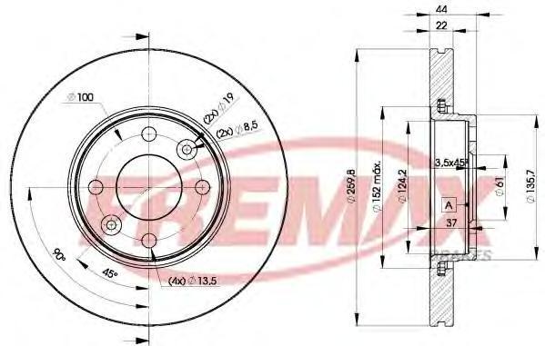 Диск тормозной Fremax, 2 шт. BD-7795BD-7795