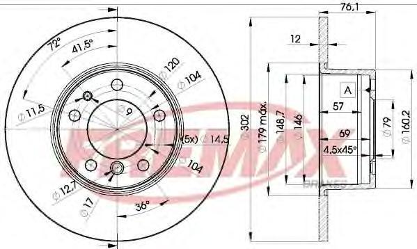 Диск тормозной Fremax. BD-8042BD-8042
