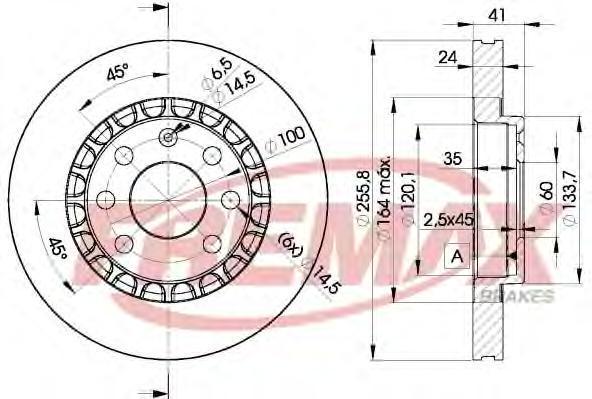 Диск тормозной Fremax, 2 шт. BD-9042BD-9042