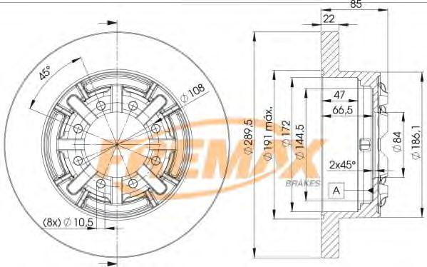 Диск тормозной Fremax. BD-8773BD-8773