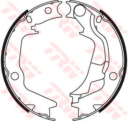 Колодки тормозные барабанные TRW, для ручного тормоза. GS8782GS8782