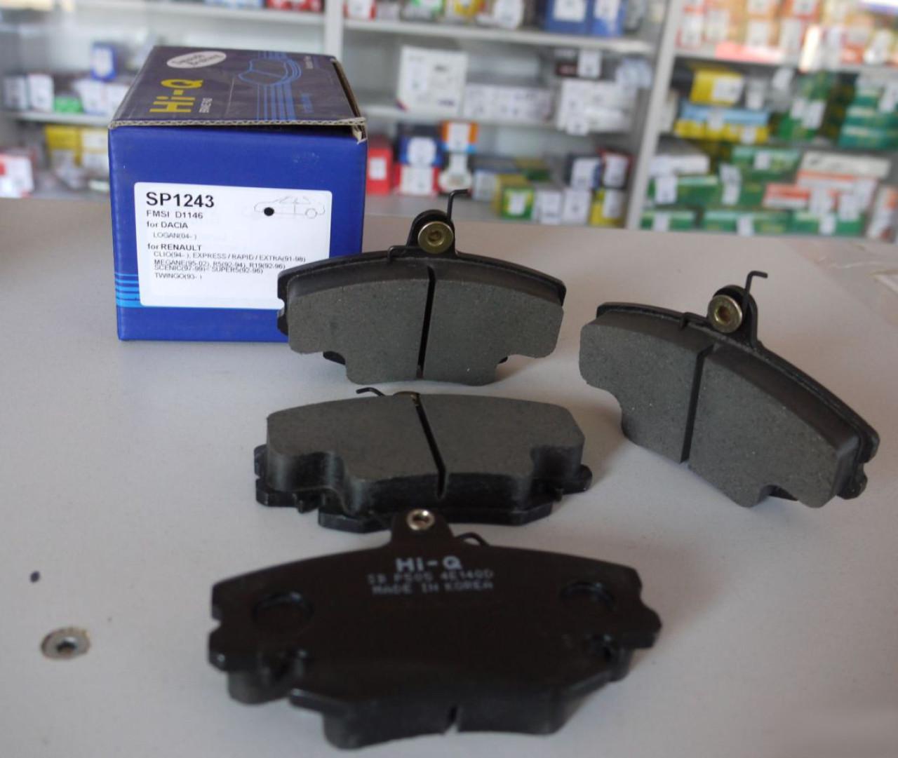 Колодки тормозные дисковые Sangsin, комплект 4 шт. SP1243SP1243