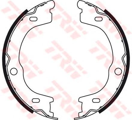 Колодки тормозные барабанные TRW, для ручного тормоза. GS8784GS8784