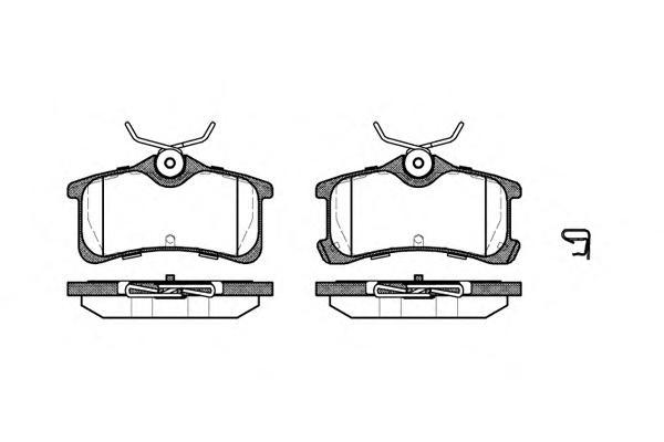 Колодки тормозные дисковые Remsa, комплект. 105002105002