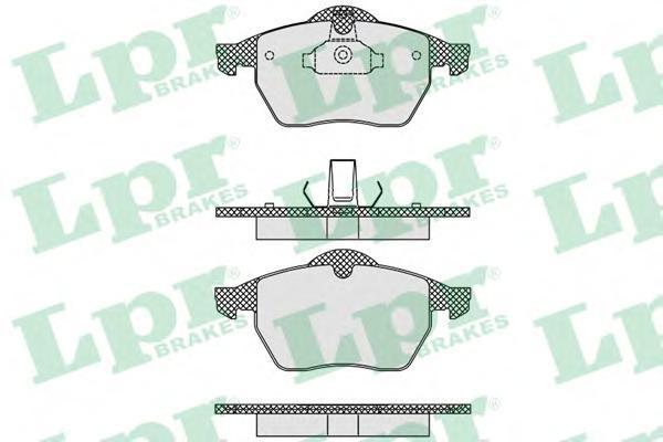 Колодки тормозные дисковые LPR / AP. 05P63505P635