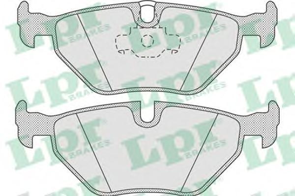 Колодки тормозные дисковые LPR / AP. 05P67505P675