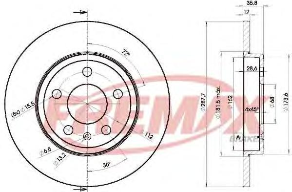 Диск тормозной Fremax, 2 шт. BD-5316BD-5316